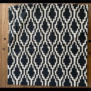 H&M home black and cream tribal print pillow cover